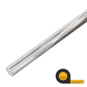 Main courante en acier inoxydable poli - Sur mesure par cm